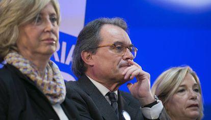 Rigau, Mas y Ortega tras conocer la sentencia.