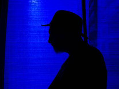 Frank Miller fotografiado durante su visita a la Heroes Comic Con de Madrid.