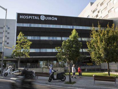 El hospital Quirón de Barcelona, una de las clínicas privadas más grandes