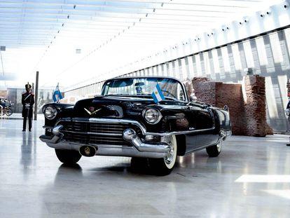 El Cadillac modelo 50 por que el trabajaron durante 11 meses, en el museo de la Casa Rosada.