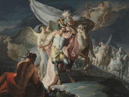 'Aníbal vencedor que por primera vez mira a Italia desde los Alpes' ( 1771), de Francisco de Goya.
