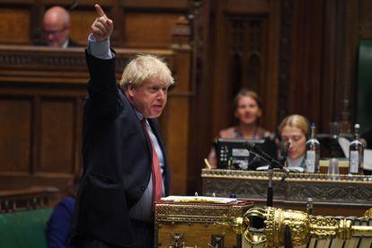 Boris Johnson, en el Parlamento británico el 15 de julio.