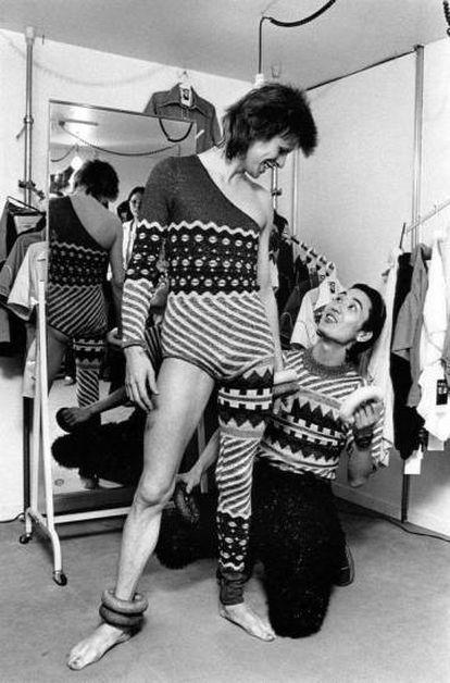 Bowie y Yamamoto en los setenta.