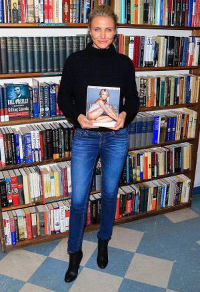 Cameron Diaz, con su libro.