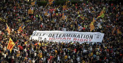 Manifestación en Barcelona. este lunes.