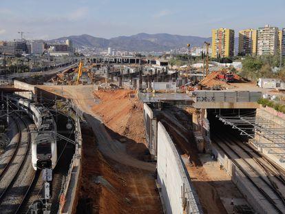 Obras de la futura estación de Ave de La Sagrera.