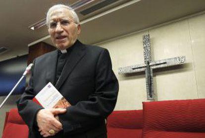El presidente de la Conferencia Episcopal Española, Antonio María Rouco Varela, ayer en la asamblea plenaria de los obispos.