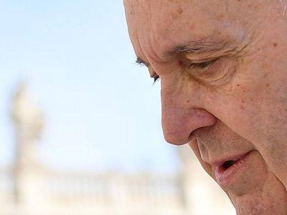 El papa Francisco preside la audiencia general del miércoles en la plaza de San Pedro, del Vaticano.