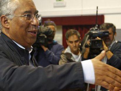 António Costa, en el día de las elecciones. Antes del recuento de votos.