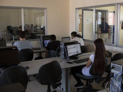 Una sala de estudio en la escuela de ingeniería informática de la Universidad de Sevilla.