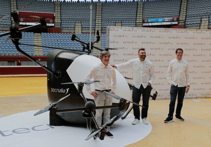 Prueba de un dron de Tecnalia.