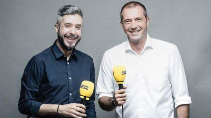 Dani Garrido y Manu Carreño, locutores de Cadena Ser.
