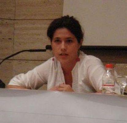 Amanda Meyer, en una imagen de la web de la agrupación Julián Grimau del PCA.