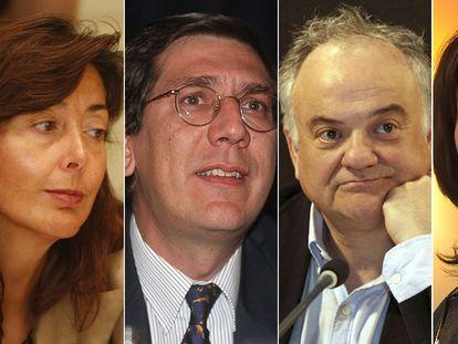 Concepción Espejel, Enrique Arnaldo, Ramón Sáez e Inmaculada Montalbán.