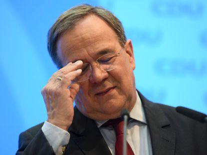 Armin Laschet, presidente de la CDU, durante una rueda de prensa en la sede del partido el pasado 26 de abril.