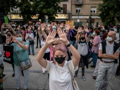 Concentración a favor del aborto libre, el 28 de septiembre en Madrid.