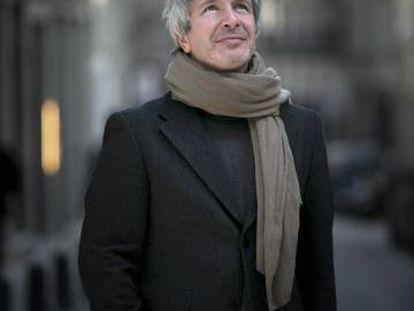 El escritor Éric Vuillard, el pasado martes, en Madrid.