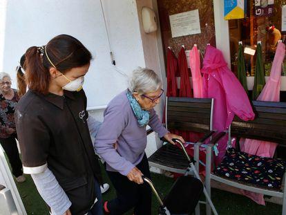 Residencia de ancianos en Polinyà (Barcelona), donde se han tomado medidas drásticas para evitar el virus.