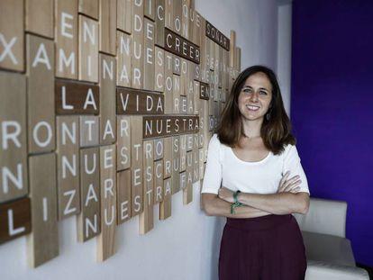 La secretaria de Estado de Agenda 2030 y dirigente de Podemos, Ione Belarra, en agosto de 2019.