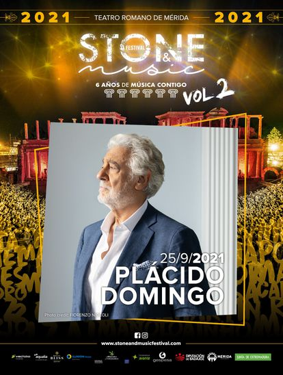 Poster of the festival in which Plácido Domingo was going to participate.