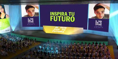Pabellón virtual donde se celebraron las charlas de 'EL PAÍS con tu futuro'