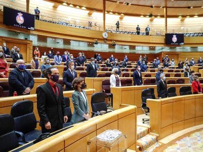 Sesión de control al Gobierno en el Pleno del Senado.
