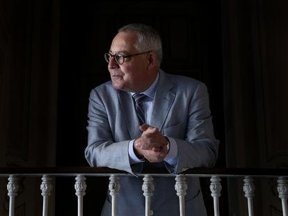 Karl Schlögel,  historiador alemán especializado en la historia de Rusia y del estalinismo, en Madrid.