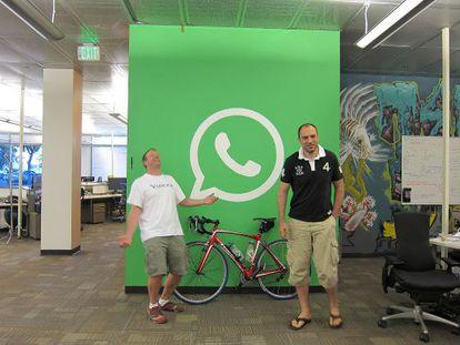 Brian Acton y Jan Koum, fundadores de Whatsapp.