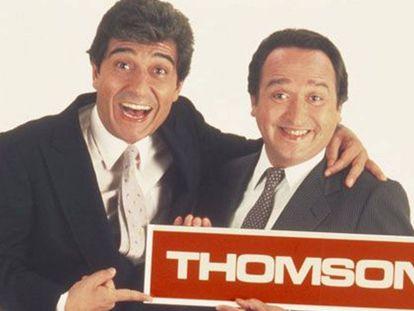 Anuncio de los televisores Thomson, con Andrés Pajares y Fernando Esteso, en 1984.