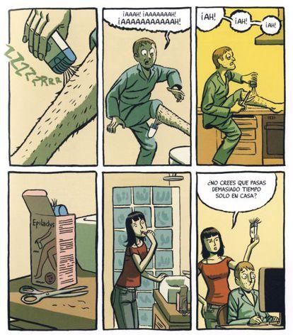 Una de las páginas de 'Memorias de un hombre en pijama', de Paco Roca.