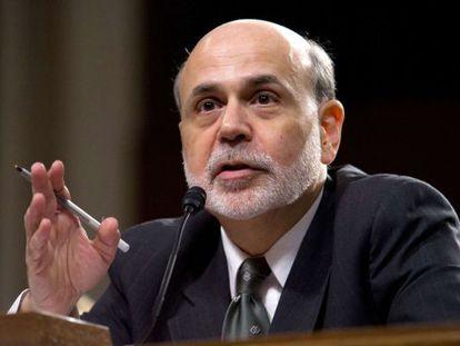 El presidente de la Reserva Federal, Ben Bernanke.