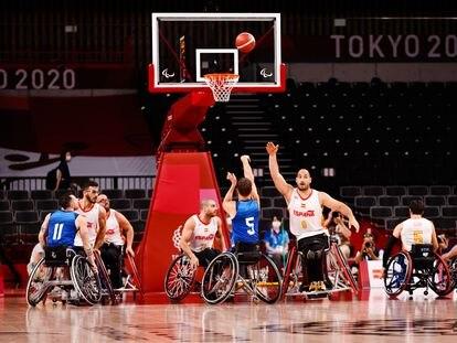 Imagen del partido entre la selección española y la de Estados Unidos en las semifinales de los Juegos Paralímpicos de Tokio.