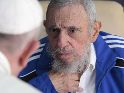 El papa Francisco, con Fidel Castro, en La Habana en 2015.