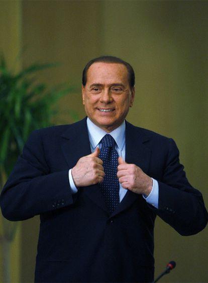 Silvio Berlusconi, durante una rueda de prensa en Egipto en mayo.