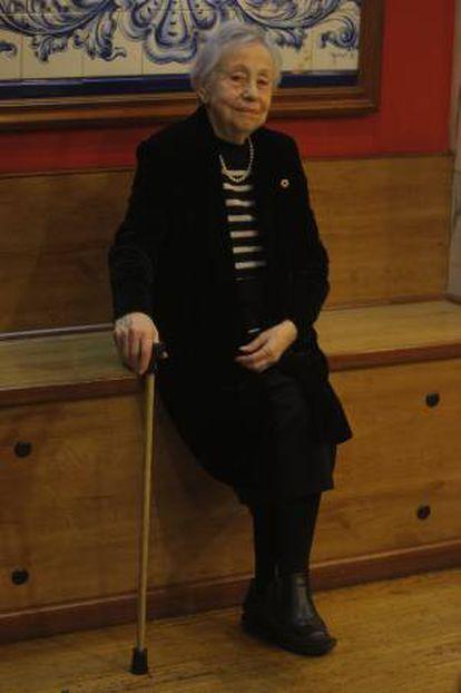 Adelina Kondrátieva, en diciembre de 2008.