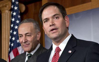 El senador Marco Rubio, durante la presentación de la propuesta de reforma.