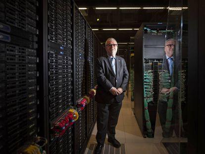 Mateo Valero, director del Centro de Supercomputación de Barcelona, tras la entrevista.