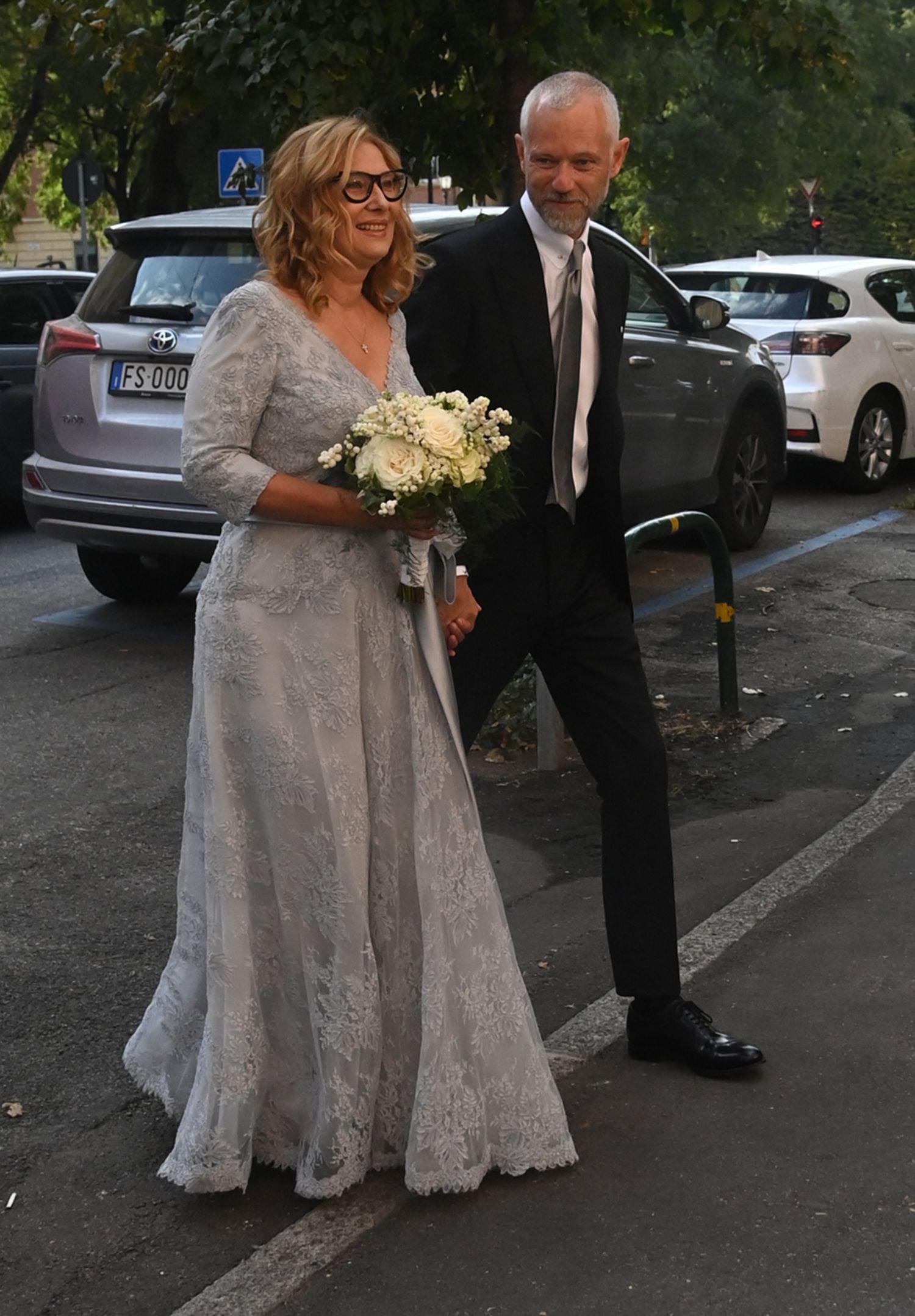 Nicoletta Mantovani y Alberto Tinarelli, en su boda en Bolonia.