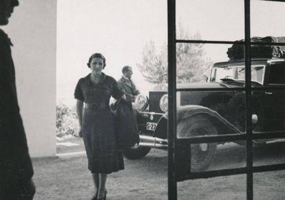 Acceso al albergue de Manzanares (Ciudad Real), en los años treinta del siglo pasado.