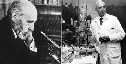 Santiago Ramón y Cajal y Severo Ochoa.
