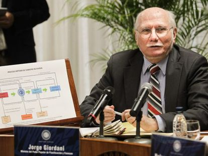 Jorge Giordani, en marzo de 2013