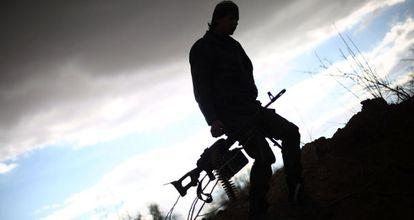 Un combatiente de Jeish al Islama a las afueras de Damasco.