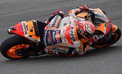 Marc Márquez rueda en el circuito de Brno.