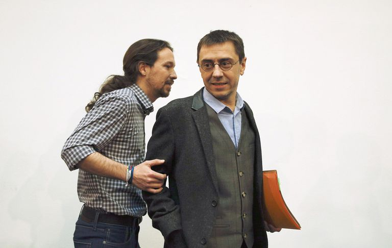 Pablo Iglesias y Juan Carlos Monedero, fundadores de Podemos, en una imagen de archivo.