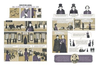 El relato titulado 'Una alumna con sombrero de copa', de Olalla Ruiz, sobre la vida de Concepción Arenal, publicado en eme21magazine.