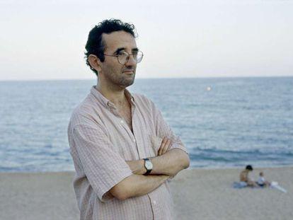El escritor chileno Roberto Bolaño, en Blanes (Girona) en 1998.
