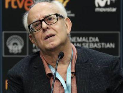 Ramón Colom, durante la rueda de prensa en el festival de San Sebastián.
