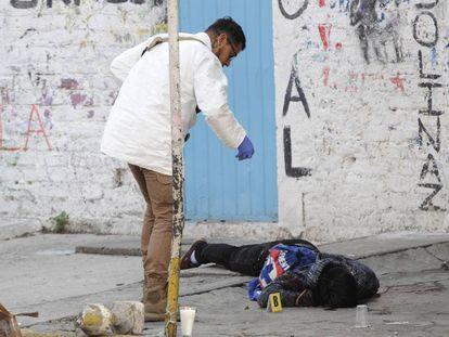 Un hombre asesinado en Ciudad de México.
