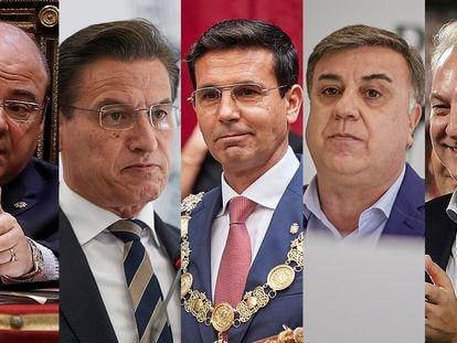 Desde la izquierda, Sebastián Pérez, Luis Salvador, Francisco Cuenca, Francisco Fuentes y José Antonio Huertas.