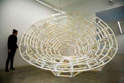 'Parábola', de Jan Koob, en la galería Àngels.